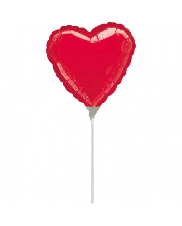 Fóliový balón červené srdce 10cm