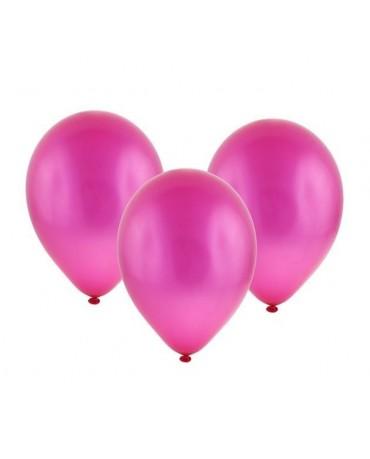 """Latexové balóny metalické- tmavoružové  11"""" 10ks"""