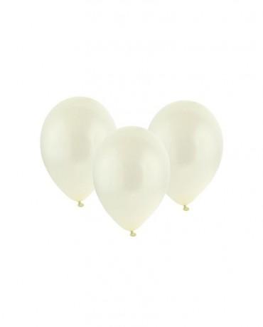 Latexové balóny metalické - krémové 12'' 100ks