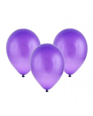 Latexové balóny metalické - fialové 12'' 100ks