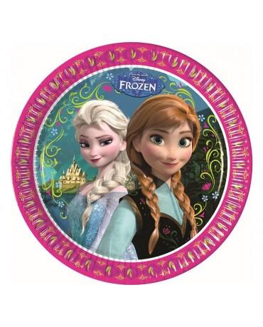 Tanieriky Frozen 23cm 8ks
