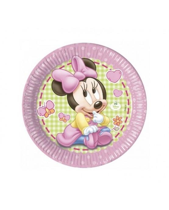 Tanieriky Mickey Mouse - Minnie Baby 23cm 8ks