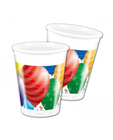 Plastové poháriky balóniky 200ml 8ks