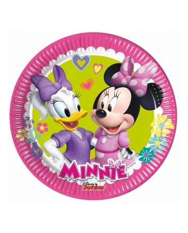 Tanieriky papierové Minnie 20cm 8ks