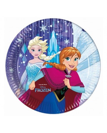 Tanieriky papierové Frozen 23cm 8ks