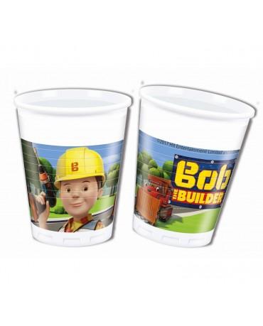 Poháriky plastové Bob stavebník 200ml 8ks