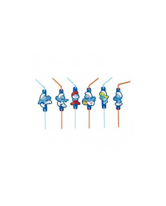 Slamky Šmolkovia modré 8ks 8eca59993e9
