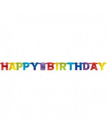 Banner Happy Birthday - farebný 2,13m