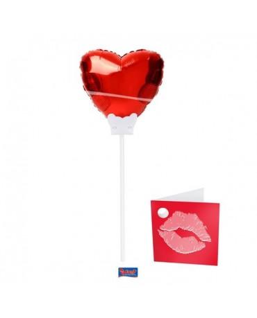 Balónová dekorácia červené srdce