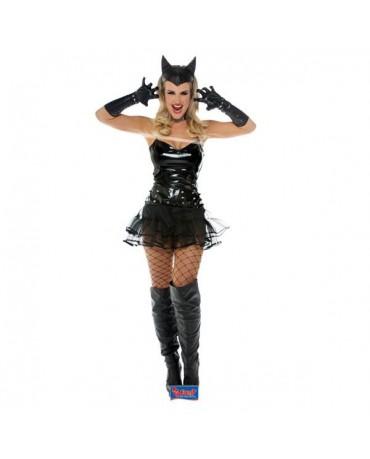 Čierny metalický kostým L/XL
