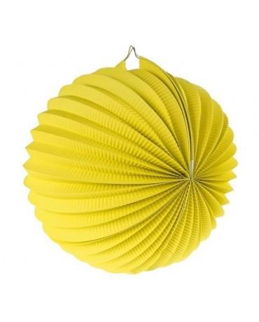 Dekorácia guľa žltá 25cm 1ks