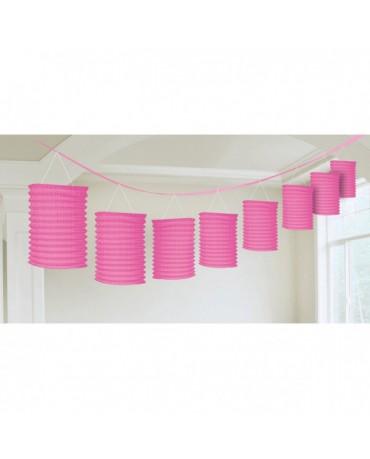 Girlanda - ružové lampióny 3,65m