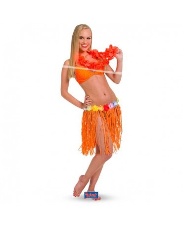 Havajská sukňa oranžová 45cm