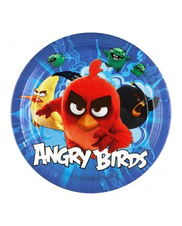 Tanieriky Angry Birds Movie - 23cm - 8 ks