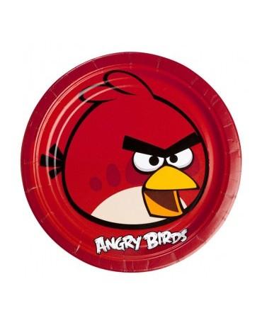 Tanieriky Angry Birds červené 23cm - 8 ks