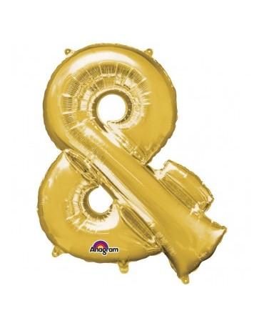 Fóliový balón - zlatý znak  and 27x35cm