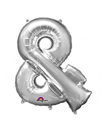 Fóliový balón - strieborný znak  and 27x35cm