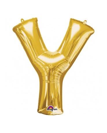 Fóliový balón - zlaté Y 27x35cm