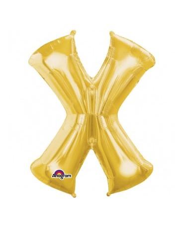 Fóliový balón - zlaté X 27x35cm