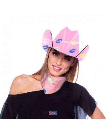 Kovbojský klobúk ružový-pusinky