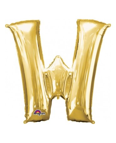 Fóliový balón - zlaté W 33x33cm
