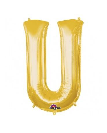 Fóliový balón - zlaté U 20x33cm