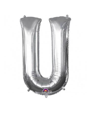 Fóliový balón - strieborné U 20x33cm