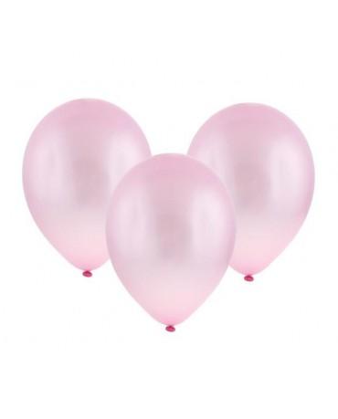 """Latexové balóny metalické- ružové 11"""" 10ks"""