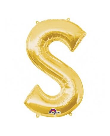Fól. balón - zlaté S    20x33cm 1ks