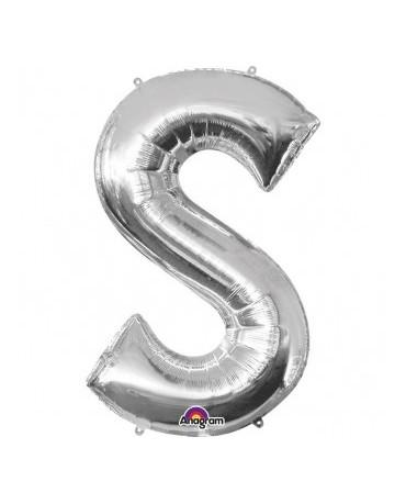 Fóliový balón - strieborné S 20x33cm