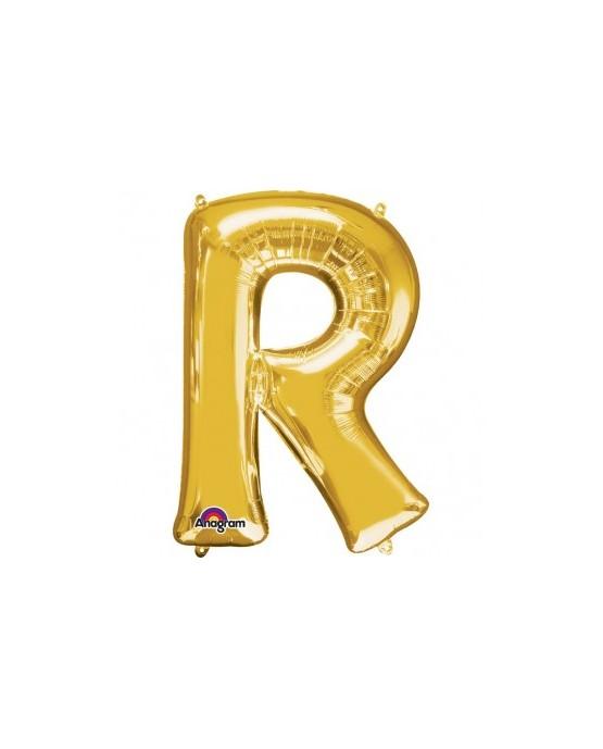 Fól. balón - zlaté R   22x33cm 1ks
