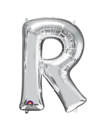 Fóliový balón - strieborné R 22x33cm