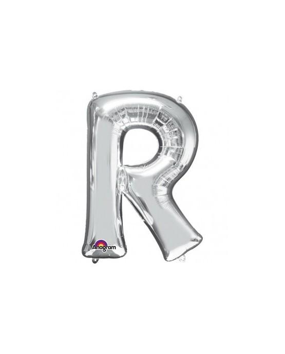 Fól. balón - strieborné R   22x33cm 1ks