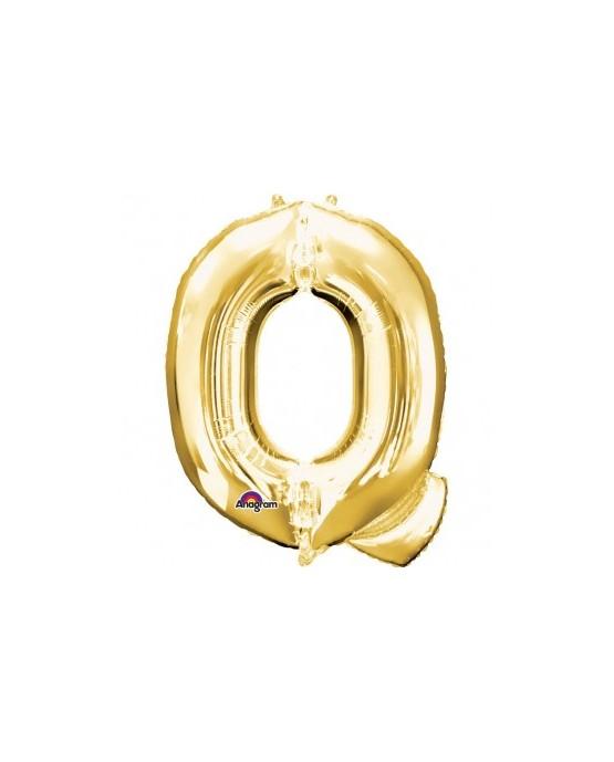 Fól. balón - zlaté Q    25x33cm 1ks