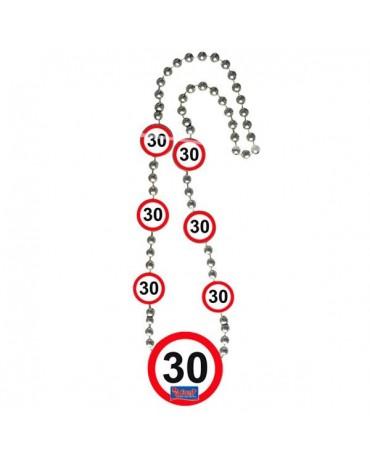 Náhrdelník 30 dopravná značka