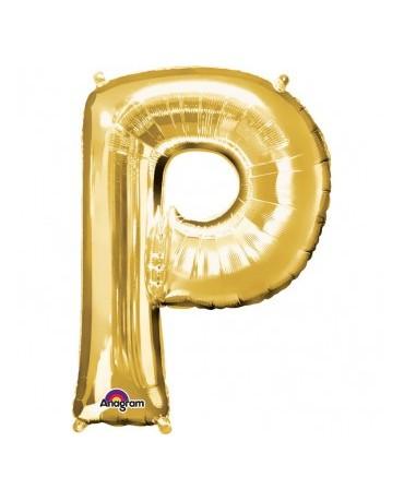 Fól. balón - zlaté P   22x33cm 1ks