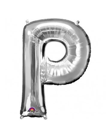 Fóliový balón - strieborné P 22x33cm