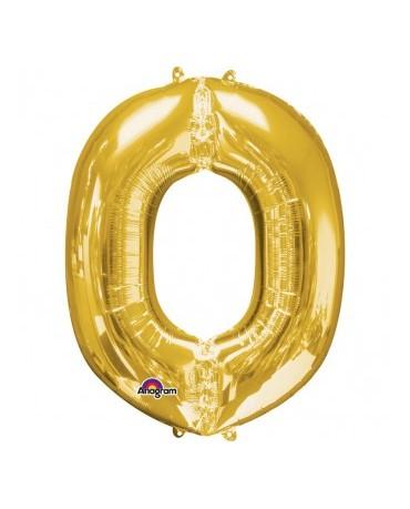 Fóliový balón - zlaté O 25x33cm