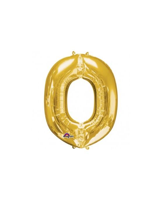 Fól. balón - zlaté O    25x33cm 1ks