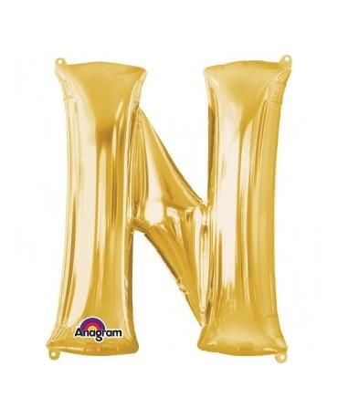 Fól. balón - zlaté N    27x33cm 1ks