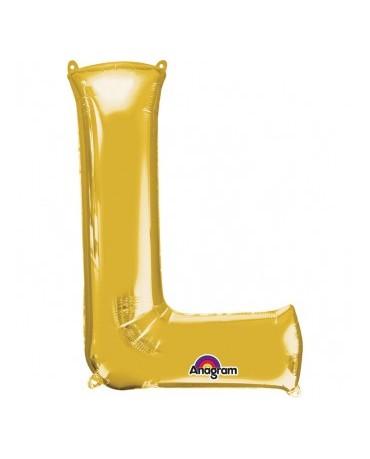 Fól. balón - zlaté L    20x33cm 1ks