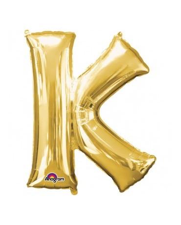 Fól. balón - zlaté K    25x33cm 1ks