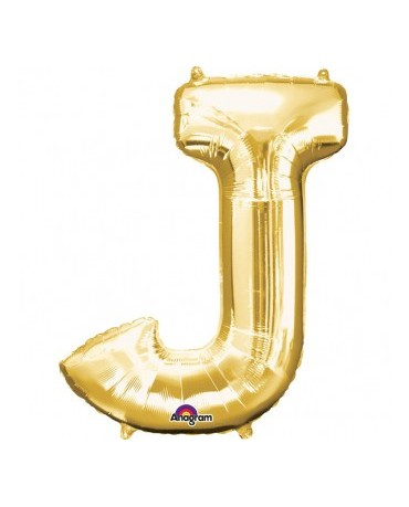 Fól. balón - zlaté J    27x33cm 1ks
