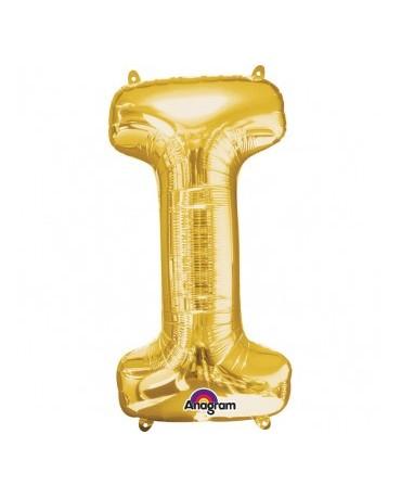 Fól. balón - zlaté I   17x33cm 1ks