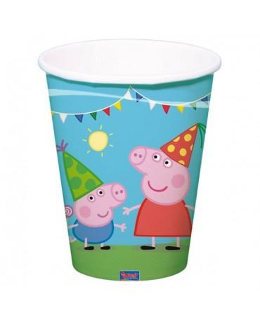 Poháriky Peppa Pig 250 ml 8ks