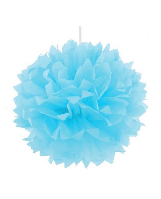 Pompón - modrý 40cm 1ks