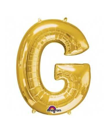 Fól. balón - zlaté G   22x33cm 1ks