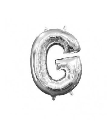 Fóliový balón - strieborné G 22x33cm