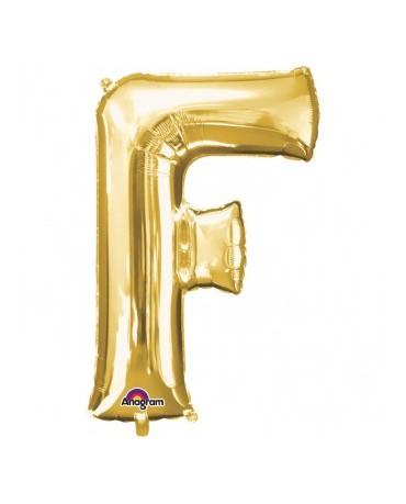 Fól. balón - zlaté F   22x33cm 1ks