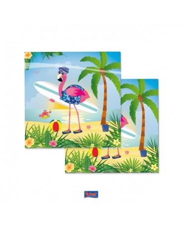 Servítky flamingo 33x33cm 20ks